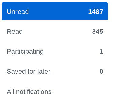 Notification dashboard count