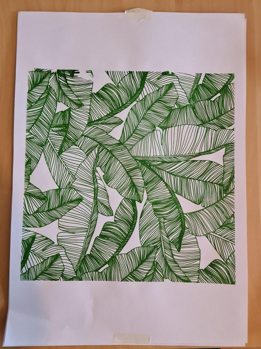 feuilles de forêt tropicales